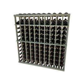 4 Ft. -  Individual Bottle Wine Rack - 10 Columns with Display - Vintner Series