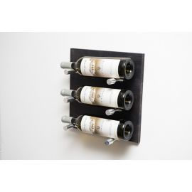 VintageView - Label Out: Metal and Wood Wine Rack Panel Kit Grain & Rod (12 to 36 bottles)