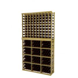 7 Ft. -  Individual Bottle Wine Rack - 10 Columns with 3 Column Rectangular Bin - Vintner Series