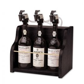 WineKeeper 3-bottle Vintner in black