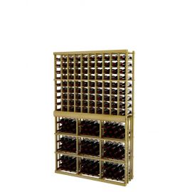 6 Ft. -  Individual Bottle Wine Rack - 10 Columns with 3 Column Rectangular Bin - Vintner Series