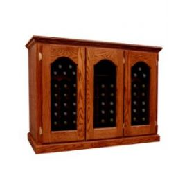 *Product image depicts Base Price Vintage Series Wine Cellar with optional Armoire Window Doors and Light Cherry stain upgrades for additional cost.