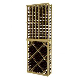 8 Ft. -  Individual Bottle Wine Rack with Open Diamond Bin - Vintner Series
