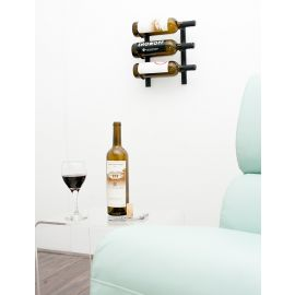VintageView - W Series 1′ Wall Mounted Metal Wine Rack (3 to 9 bottles)