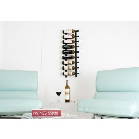 VintageView - W Series 3′ Wall Mounted Metal Wine Rack (9 to 27 bottles)