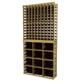 9 Ft. -  Individual Bottle Wine Rack - 10 Columns with 3 Column Rectangular Bin - Vintner Series