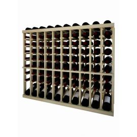 3 Ft. -  Individual Bottle Wine Rack - 10 Column Top Stack with Lower Display