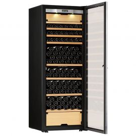 Transtherm Castel Wine Cabinet Glass Door Black