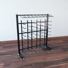 VintageView - 90-Bottle Island Display Rack 3-Half