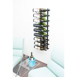 VintageView - Wall Series Magnum/Champagne Metal Wine Rack (9 to 18 bottles)