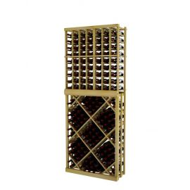 7 Ft. -  Individual Bottle Wine Rack with Open Diamond Bin - Vintner Series