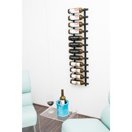 VintageView - W Series 4′ Wall Mounted Metal Wine Rack (12 to 36 bottles)