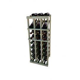 3 Ft. -  Individual Bottle Wine Rack - 3 Columns with Display