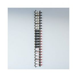 VintageView - W Series 7′ Wall Mounted Metal Wine Rack Kit (21 to 63 bottles)