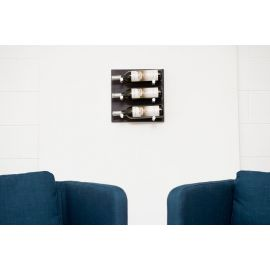VintageView - L- Style Midnight Black Finish (Label Forward) Wine Wall Panel