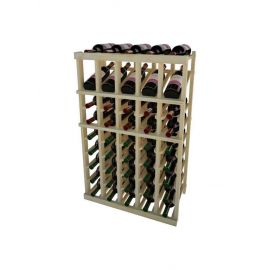 3 Ft. -  Individual Bottle Wine Rack - 5 Columns with Display
