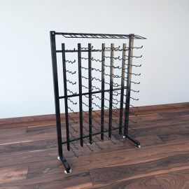 VintageView - 117-Bottle Island Display Rack 4-Half (single sided)