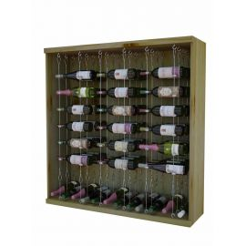 3 Ft. -  -  Individual Bottle Wine Rack with Diamond Bin with Face Trim - Vintner Series