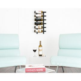 VintageView - W Series 2′ Wall Mounted Metal Wine Rack (6 to 18 bottles)