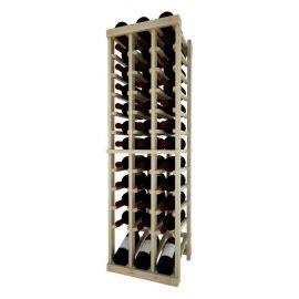 4 Ft. -  Individual Bottle Wine Rack - 3 Column Top Stack with Lower Display