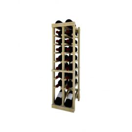 3 Ft. -  Individual Bottle Wine Rack - 2 Columns Top Stack with Lower Display
