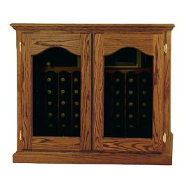 * Product image depicts Base Price Vintage Series Wine Cellar with optional Provence Window Door and Medium stain upgrades for additional cost.