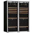Transtherm Double Ermitage Wine Cabinet Glass Door Brushed Aluminum NEW #17046