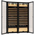 Transtherm Double Castel Wine Cabinet Glass Door Brushed Aluminum Fully Shelved NEW #17051