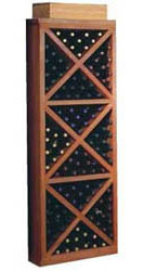 Designer Wine Rack Series Veneer Diamond Cube With Face Trim
