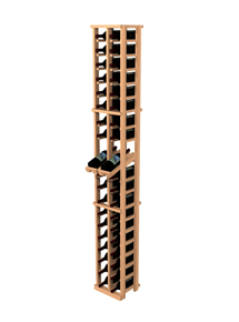 Traditional Redwood 2 Column Individual Wine Rack With Display