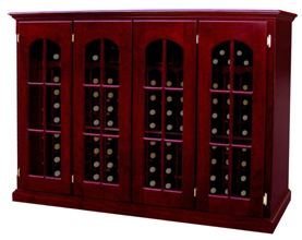 Vintage Series 4 Door Single Deep Credenza Wine Storage Console