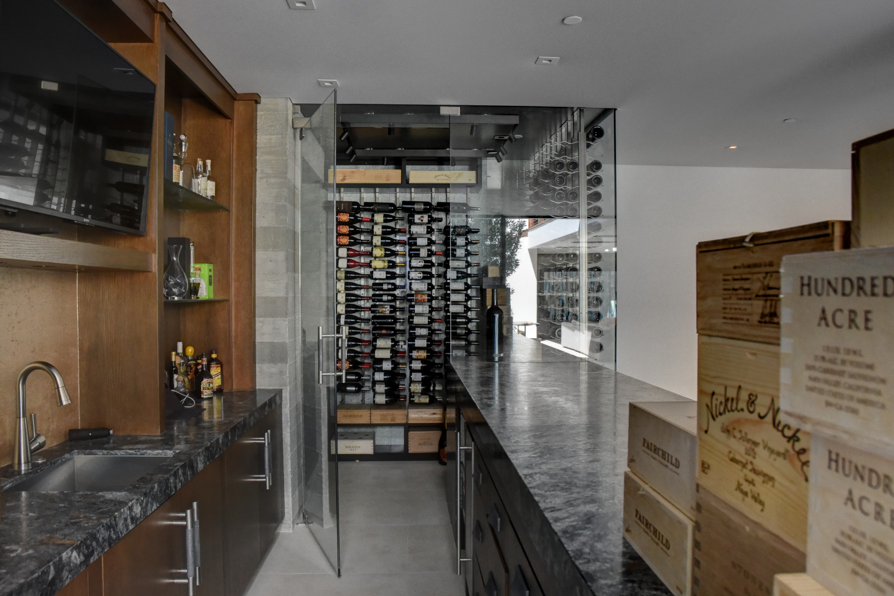 Modern Contemporary Custom Wine Cellar