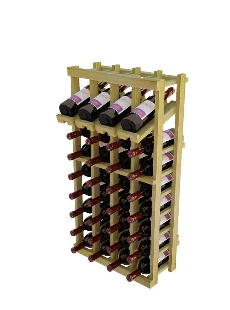 WineMaker 10-Column Wine Rack with Display Row