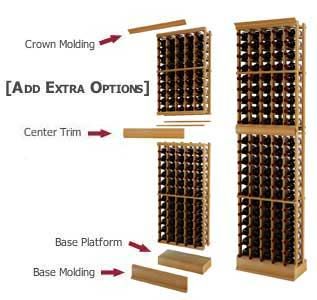 A wine cellar outfitted with WineMaker wine racks.