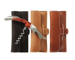 Corkscrew and leather case
