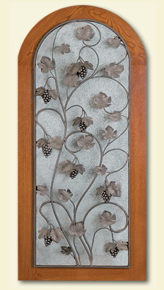 wrought iron door for Vinotheque cabinet