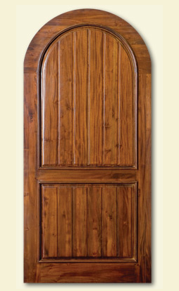 Mission-inspired Vinotheque cabinet door