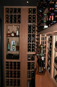 Wine racks in the Gilliland wine cellar
