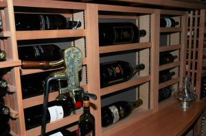 Gilliland adjustable wine racks for large format bottles