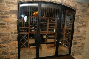 doors to the Gilliland wine cellar