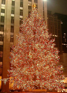 The famous Rockefeller Center Christmas tree.