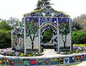 The Minnie Evans Bottle Chapel in Wilmington, North Carolina