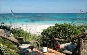 drinking wine on the sunny beach