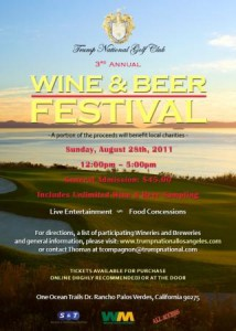 Trump Wine and Beer Festival Poster