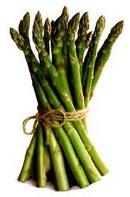 Asparagus tied together