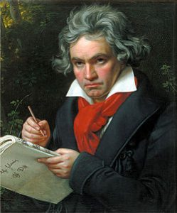A portrait of Beethoven by Joseph Karl Stieler, 1820