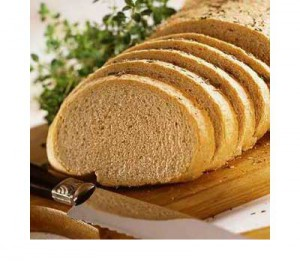 Delicious wine bread with garlic