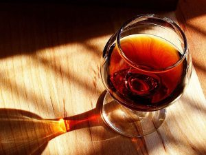 a glass of tawny port