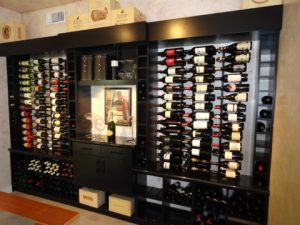 custom wine cellar with vintageview wine racks