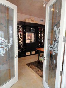 custom wine cellar by vintage cellars